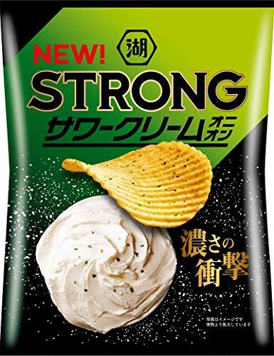 湖池屋 KOIKEYA STRONGポテトチップスサワークリームオニオン 63g ×12袋