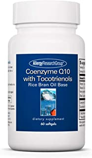 Allergy Research Group - Coenzyme Q10 with Tocotrienols - Heart Brain Antioxidants - 60 Softgels