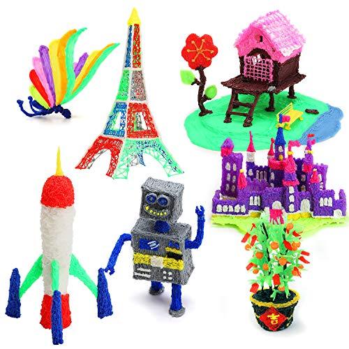 3D Druck Stift mit OLED-Bildschirm, Jiamus intelligente 3D Drucker Zeichnung Stift, kompatibel mit 1,75 mm PLA / ABS Filament,12 Fuß in 120 Farben,für Kinder und Erwachsene,Typen für Handwerk,Kunst & Modell, am besten für DIY-Geschenk. - 6