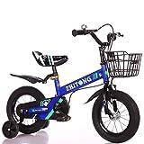 HUAQINEI Bicicleta para niños, niños, niños, niños, niños, niños, niños, niños, niños, niños, niños, niños y niñas, Bicicleta de Equilibrio Ligera con estabilizador y Canasta