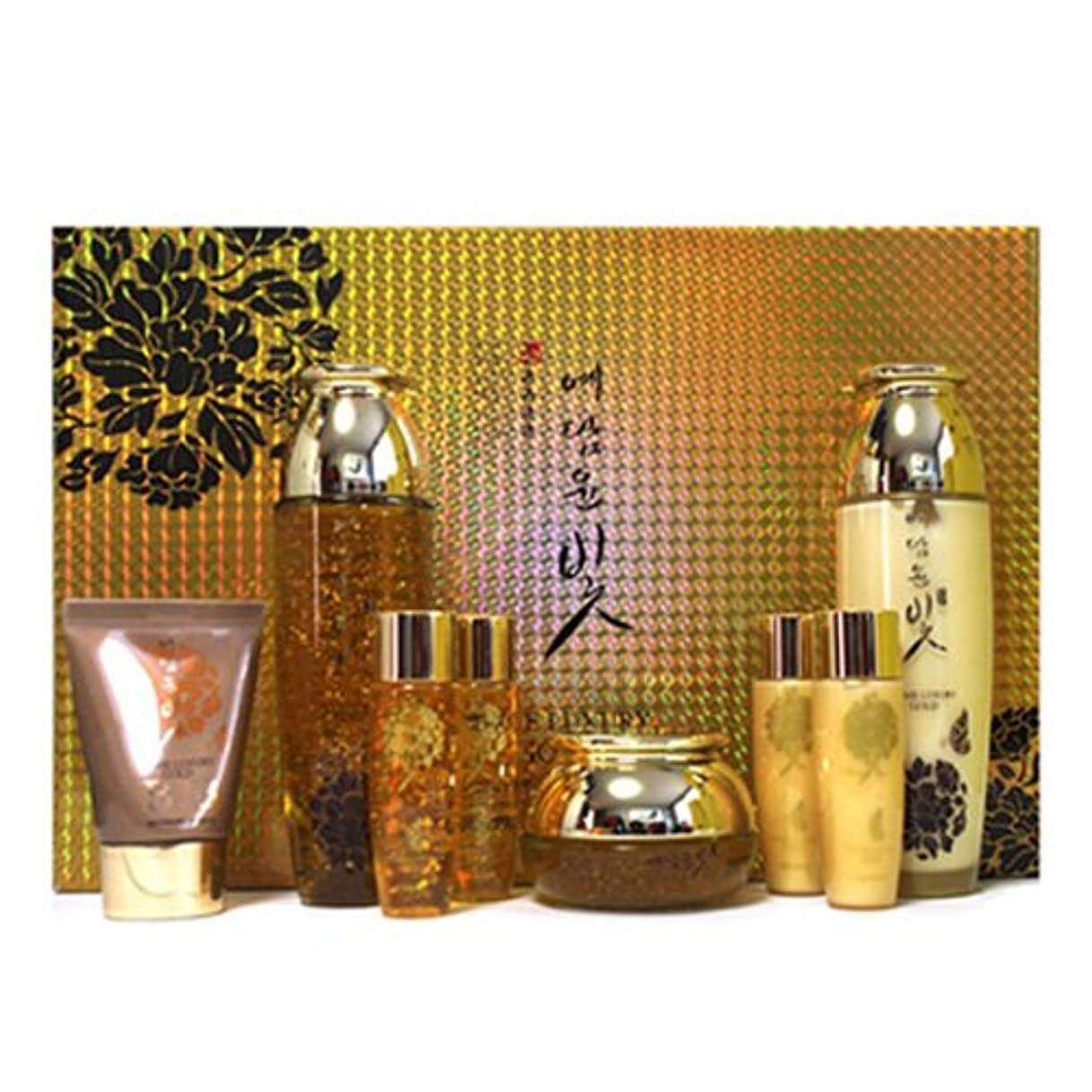 予言する呼吸する瞳イェダムユンビト[韓国コスメYedam Yun Bit]Prime Luxury Gold Skin Care Set プライムラグジュアリーゴールドスキンケア4セット 樹液 乳液 クリーム/ BBクリーム [並行輸入品]