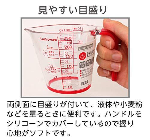 岩崎工業岩崎計量日本製耐熱カップ日本製メジャー250ml樹脂製K-1557Rレッド