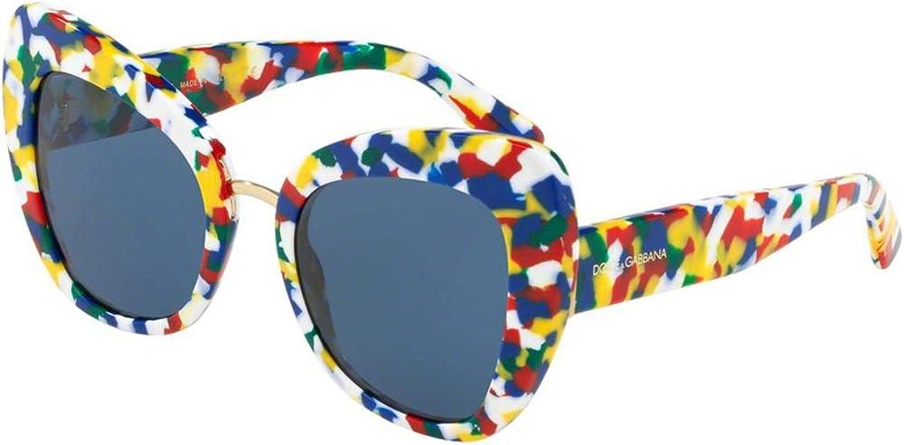 Dolce & gabbana, occhiali da sole per donna, in acetato  , lenti infrangibili sfumate blu DG4319