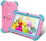ANTEMPER Tablet per Bambini 7 Pollici,Android 9.0 Quad Core,2GB RAM 16GB ROM/128GB Espandibile,WiFi Bluetooth,IPS HD 1024 * 600 Touchscreen,Controllo dei Genitori,G-Sensor,Kid-Proof Custodia,Rosa