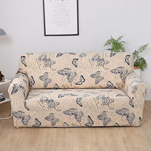 YULINGSTYLE Elastische Sofabezug Baumwolle All-Inclusive Couchbezug F¨¹R Wohnzimmer 1/2/3/4 Sitz Stretch Couch Sofabez¨¹Ge L-Form Ecksofa Sofa¨¹Berwurf NO.15