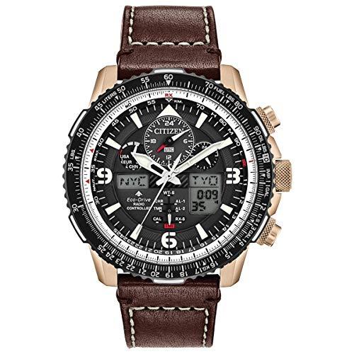 Citizen JY8076-07E Men's Promaster Skyhawk A-T Brown Strap Chrono Watch