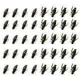 Ownsig 40 Pcs 2 Colors Black Cricket Shape Fishing Soft Lures Super Simulate Insect Artificial Bait