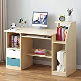 anmas power Computer Desk Drawer Shelves Laptop PC Table Home Office Study Workstation with 2...