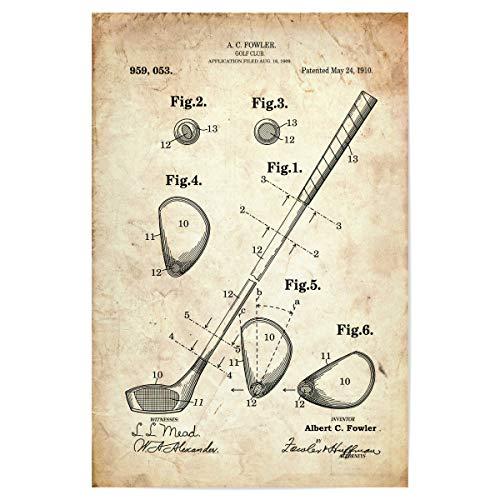 artboxONE Poster 60x40 cm Sport Golfschläger patent (Antik) - Bild golfschläger patent Golf