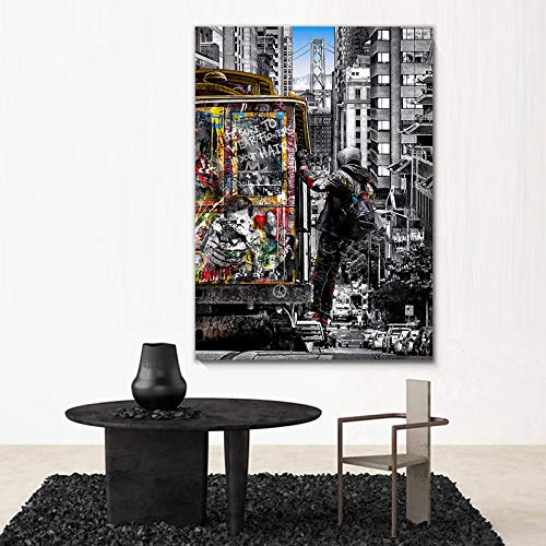 Lienzo Arte de la pared Arte moderno de la calle del Reino Unido Pinturas en lienzo en la pared Carteles e impresiones Impresión de imágenes Arte para decoración del hogar 50x70cm Sin marco