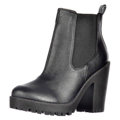 Onlineshoe Damen Rihanna Klassische Chelsea Stiefel UK8 - Eu41 - Us10 - Au9 Schwarz