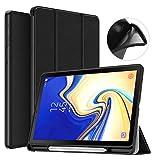 MoKo Hülle für Samsung Galaxy Tab S4 10.5, Ledertasche mit Auto Sleep/Wake up & Standfunktion Stift Steckplatz für Galaxy Tab S4 10.5