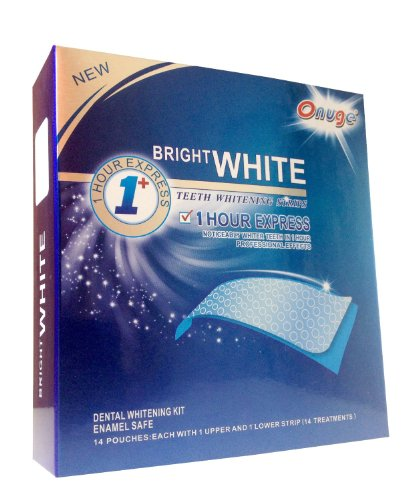 Bright White Teeth Whitening Strips - Professional Non-Slip Technology Teeth Bleaching Gel