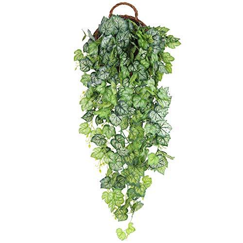 Hawesome Künstliche Hängepflanze, Kunstpflanze Hängend Efeu Pflanze Weinreben Farne für Wand, Innenbereich, Ohne Hängekörbe, Hochzeitsgirlande