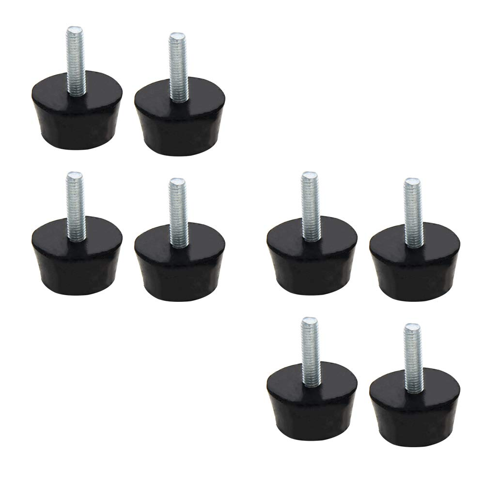 MroMax 38mm Conical Rubber Mount,Vibration Isolators,Shock Absorber with M8 x 30mm Threaded Studs 4Pcs