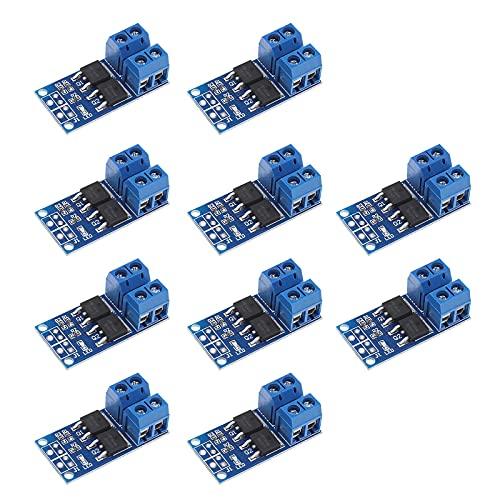 Leistungsstarkes MOS-FET-Trigger-Schalter, Antriebsmodul, 0–20 kHz, PWM, elektronische Schalttafel, DC 5–36 V, 400 W, 10 Stück