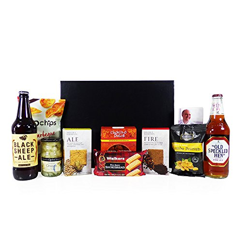 Food Hamper for Men Gentlemanly Indulgence Presented in a Gift Box - Gift Ideas for Christmas, Birthday, Valentines, Fathers Day, Him, Men, Dad, Grandad, Business and Corporate