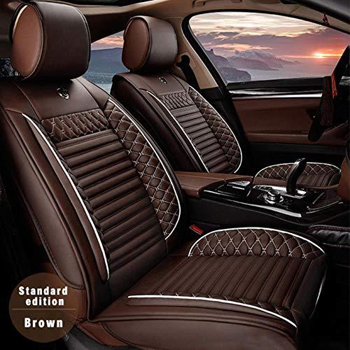 XIARI Funda De Asiento De Coche Universal para Audi A3 8P 8L Sportback Q7 2007 Q5 A4 B7 Avant A6 C5 Accesorios De Coche-Marrón