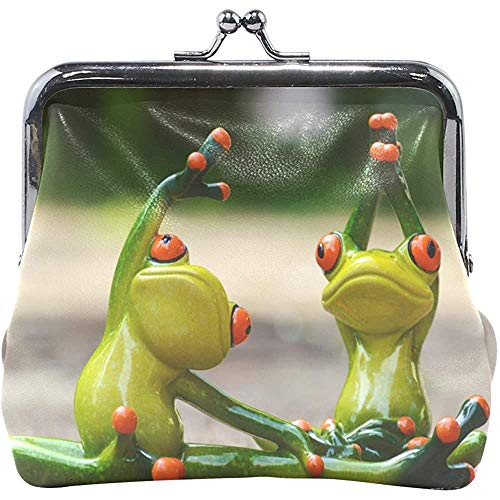 Awesome Two Frog Yoga kinderen portemonnee veranderen vrouwen Wallet Coin Fall