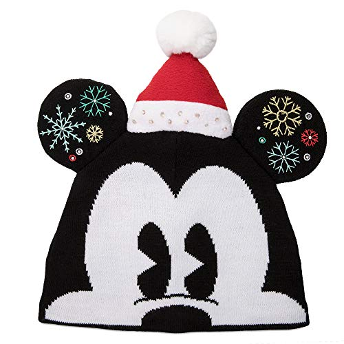 Disney Mickey Mouse Light-Up Beanie Hat for Adults- Multi