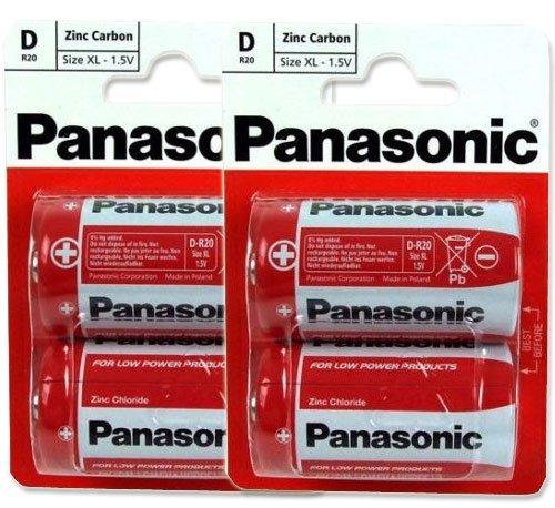 Panasonic R20R-2BP D Size 2 x 2Pack (4 Batteries)