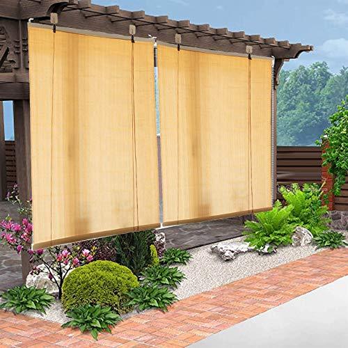 Estor Enrollable Parasol de 100cm/120cm de Ancho, Paño de Sombra Enrollable para Exterior Patio Patio con 80% de Protección UV, Terraza Porche Balcón Patio Trasero (Size : 100×170cm/39.4×67in)