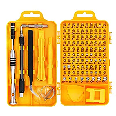 Precision Screwdriver Set Magnetic - Professional 110 in 1 Screw driver Mini Tools Sets, PC Repair Tool Kit for Mobile Phone-Tablet-Computer-Watch-Camera-Eyeglasses-PC/Other Electronic Devices from KerKoor