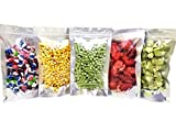 Clear Front Resealable Mylar Bags - 5 Mil - 5' x 8' x 3' Gusset Zip Seal Stand Up Odor Proof Pouch for Dried Flowers Herbs Food Coffee Tea Snacks Storage Container (100) (5x8, 5x8x3)