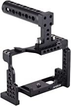 Andoer Camera Cage Stabilizer, Aluminum Alloy Camera Video Cage for Sony A7II/A7III/A7SII/A7M3/A7RII/A7RIII with Cold Shoe Mount and Top Handle