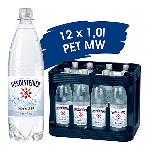 Gerolsteiner Sprudel / Natürliches Mineralwasser mit viel Kohlensäure und wertvollem Calcium und Magnesium / 12 x 1,0 L PET Mehrweg Flaschen