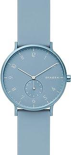 Skagen Aaren Men's Blue Dial Silicone Analog Watch - SKW6509