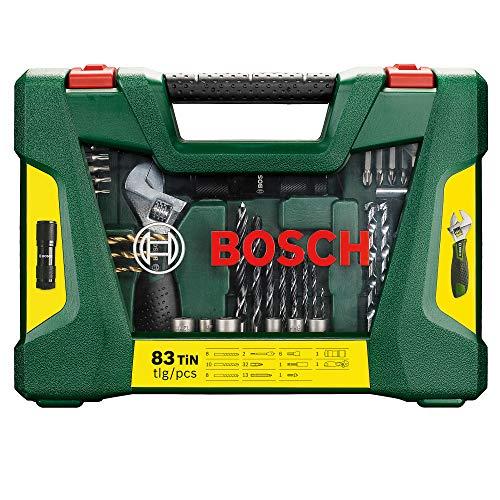 Bosch V-Line Titanio - Maletín de 83 unidades para taladrar y atornillar