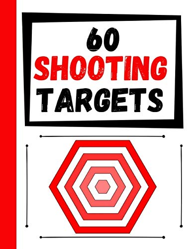 60 Shooting Targets: Large Paper Perfect for Rifles / Firearms / BB / AirSoft / Pistols / Archery & Pellet Guns