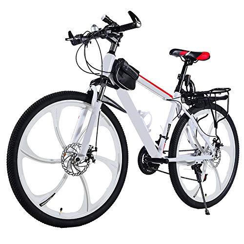 Vélo de Montagne vélo à Vitesse Variable 26 Pouces Hors Route léger 24 Vitesses Adultes étudiants Masculins et féminins, Grands Enfants, Freins à Double Disque et vélos amortisseurs