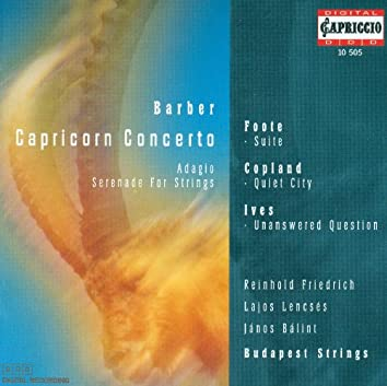 Barber, S.: Capricorn Concerto / Serenade, Op. 1 / Foote, A.: Air and Gavotte / Suite in E Major