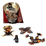 LEGO Ninjago - Spinjitzu Cole, peonza naranja y negra divertida de ninja de juguete (70662) , color/modelo surtido