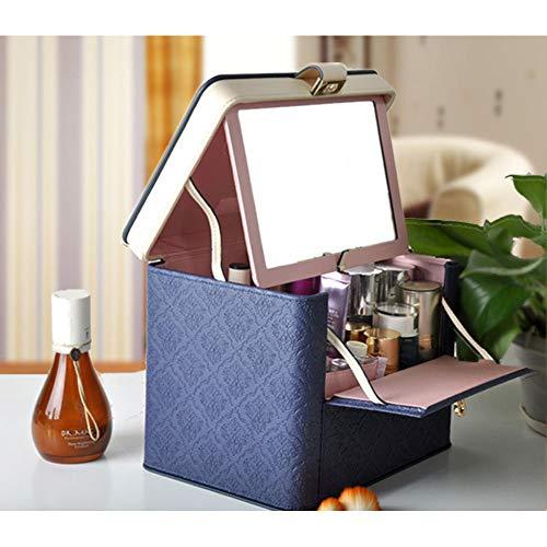 Schmuckkästchen Koffer Schmuck Aufbewahrungsbox Schmuck aufbewahrungsbox mit spiegel kosmetische holz tragbare kosmetische fall schreibtisch hause lagerung Aufbewahrungsvitrine für die Reise, Hotel