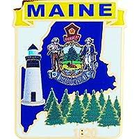 """USA STATES, MAINE Map - Original Artwork, Expertly Designed PIN - 1"""""""