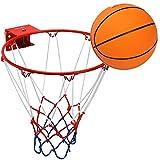 Pellor Panier de basket Cercle en Acier Inoxydable avec Ballon Convient à...