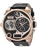 Diesel - DZ7261 - Montre Homme - Quartz Chronographe - Chronomètre/Aiguilles Lumineuses - Bracelet Cuir Noir