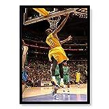 WIOIW Kobe Bryant NBA Basketball Sport Jeu Super Star Slam Dunk Stade HD Photos Toile Peinture Mur Art Affiche Salon Fans Chambre Gym Club Décor À La Maison