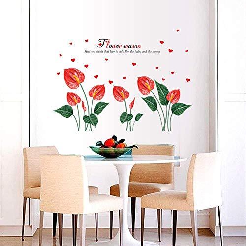 DJY-JY Adhesivos florales para quitar el dormitorio, la cama, la cabeza, la sala de estar, la TV, el fondo de la pared, la decoración impermeable de la pared, 137 x 100 cm