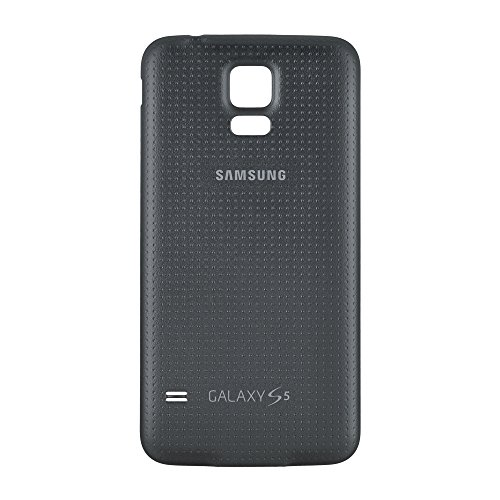 OEM Samsung Galaxy S5 SM-G900 Battery Door Back Cover Replacement - Charcoal Black (Samsung Logo) (Bulk Packaging)