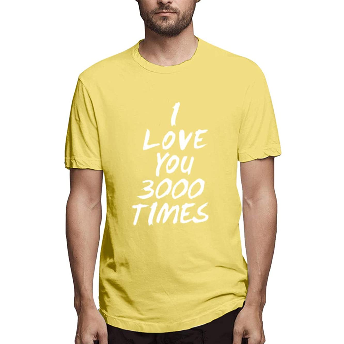 Couple T Shirt I Love You 3000 Print Short Sleeve Casual Loose Tops Blouse for Women Man Gilrs Boys CapsA