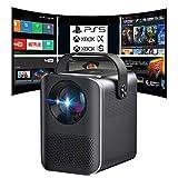 Proyector portatil 4K, Android, WiFi, Resolución nativa 1080p, 6.000 Lúmenes, silencioso, Compatible con PS5, Xbox...