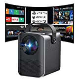 Proyector 4K, Proyector Portátil, 6000 Lúmenes, Android, Bluetooth, Nativo 1080p Full HD, Cine en Casa, Dolby Digital AC3, Keystone 4D, 90000 Horas, Compatible con PS5/PS4/PC/XBOX, Zoom (Negro)