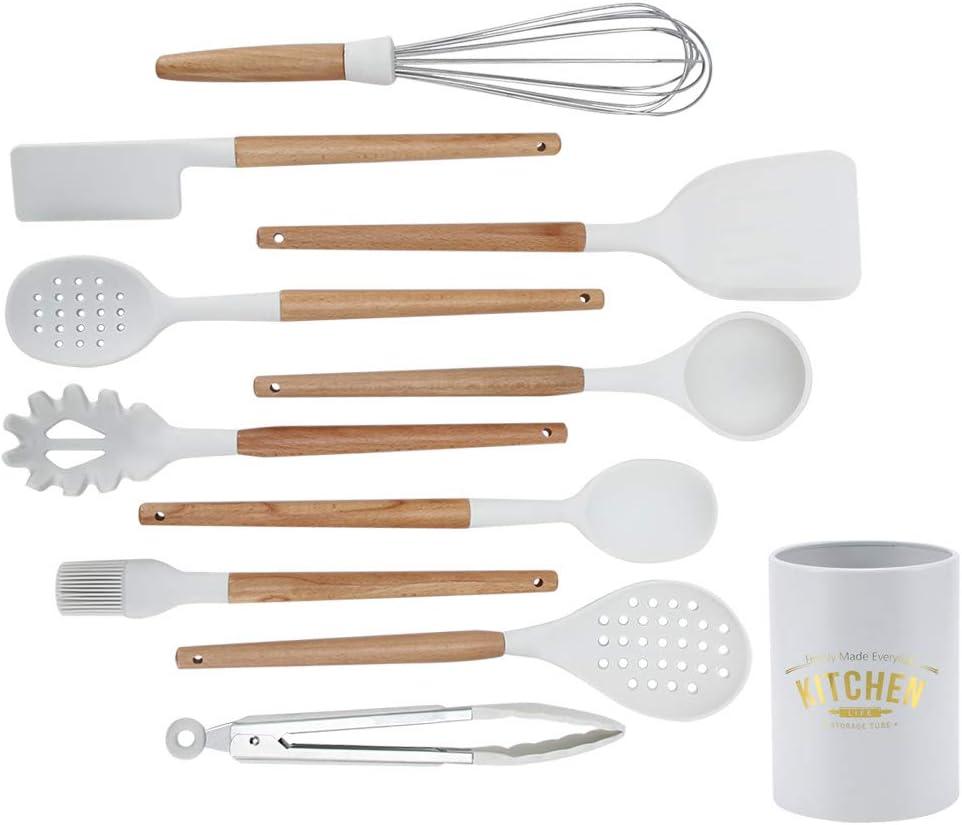 Silicone Kitchen Utensiles Cheap New Free Shipping SALE Start Set Cooking Non-Stick 12pcs Utensils