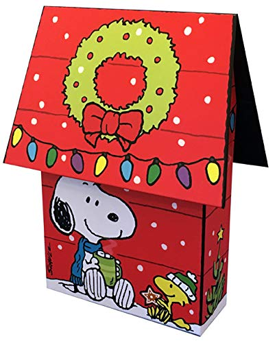 Peanuts Snoopy and Woodstock Dog House 3D Keepsake Collectible Box of 16 Hallmark Christmas Cards
