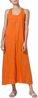 Mogogo Womens Tank Loose Casual Swing A-Line Long Solid Dress