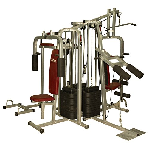 Lifeline MYSPOGA_1512399_6ST3w Other 6 Station Home Gym - 3 Weight Lines, Others (Multicolor)